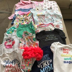 Girl's 6-9 Months Summer Swim Sleep Play Bundle